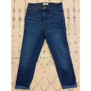 "Madewell 10"" High rise Skinny Jeans raw hem"